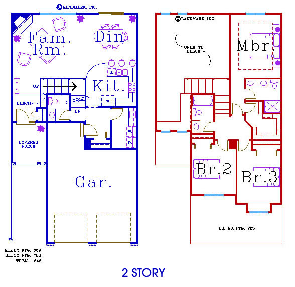 Two Story View Floorplans